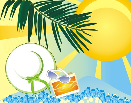 pore: Summer - a pore to rest. Vector