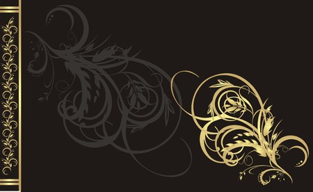 Floral ornament for decor of card. Vector Vector
