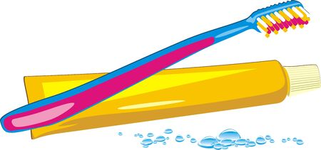 Drops, tooth brush and paste. Vector Stock Vector - 5453688