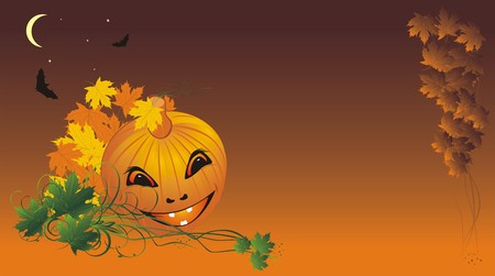 deliciously: Halloween. Abstract composition for card. Vector