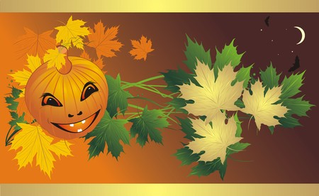 deliciously: Halloween. Abstract composition for banner. Vector
