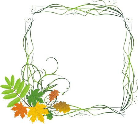 Leaves. Abstract composition for frame. Vector Vector