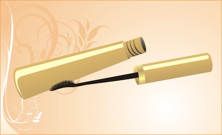 Mascara on the decorative background. Card. Vector Stock Vector - 5729348