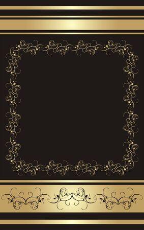 decorative item: Floral ornament for card. Background.