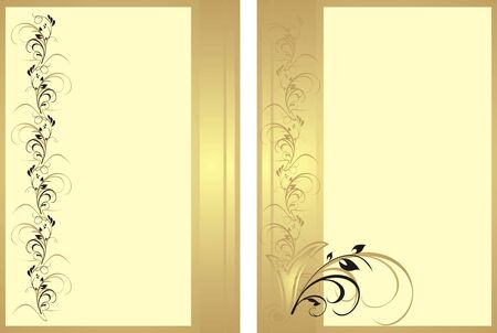Two patterns with ornament for cards. Vector Stock Vector - 5805456