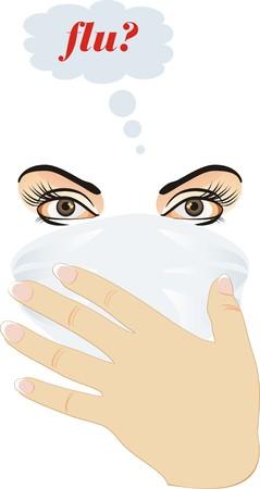 Epidemic of flu. Vector Stock Vector - 5858833
