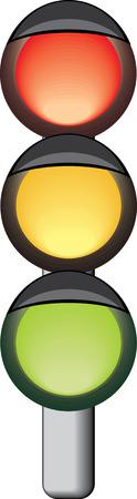 traffic violation: Traffic-light. Vector