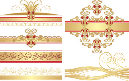 ornaments vector: Collection of gothic ornaments. Vector