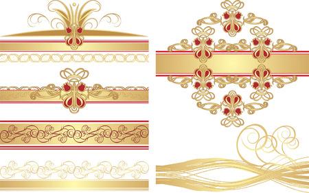 ornaments vector: Insieme di ornamenti gotici. Vector