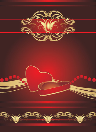 Decorative box with candies on the gothic ornament. Vector Vector