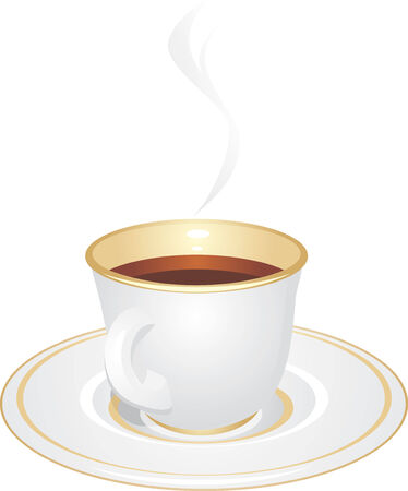 Cup with coffee. Isolated on the white Vector