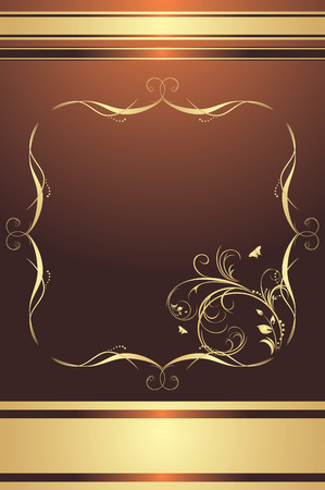Decorative frame for design on the brown background Vector