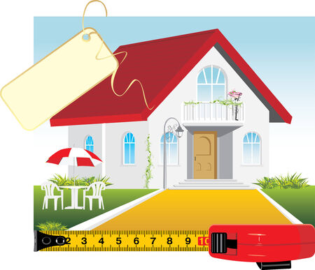 Sale of the private house Vector