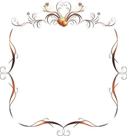 gothic heart: Floral decorative frame