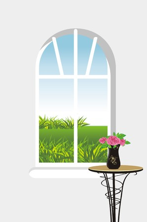 Kind from a window Stock Vector - 7345425