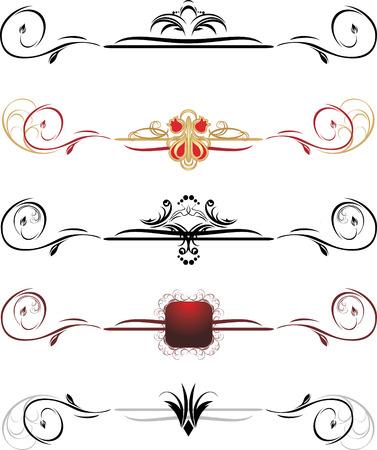 fronteiras: Conjunto de bordas decorativas