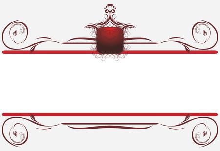 Bordes decorativos para tarjeta. Título  Foto de archivo - 7345287