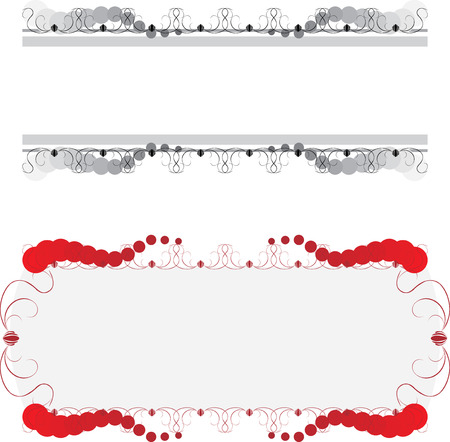 Borders and frame for card Stock Vector - 7441981