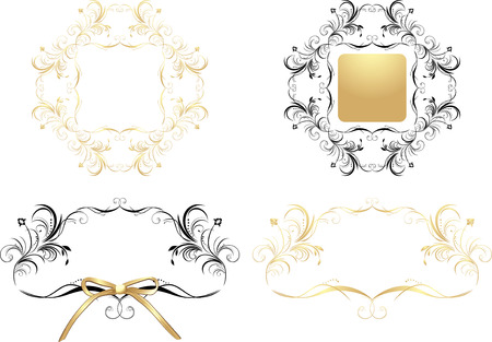 Four patterns for decorative frames Stock Vector - 7441983
