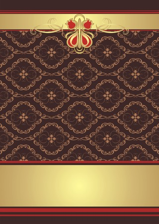 Decorative ornament. Background for wrapping Vector