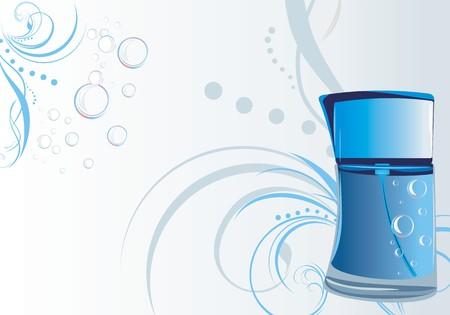 tufo: Perfume para hombres en el fondo decorativo  Vectores