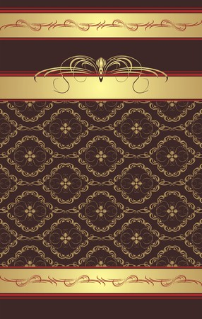 decorative item: Decorative background with ornament for wrapping