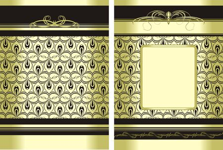 Two decorative backgrounds for wrapping Vector
