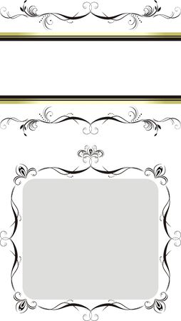 Two decorative floral frames Vector