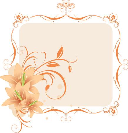 Lilien in der dekorativen Rahmen