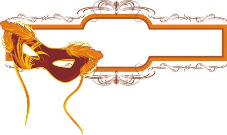Masquerade mask and decorative frame Stock Vector - 7760312