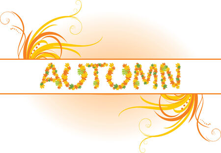 Abstract autumn banner Vector