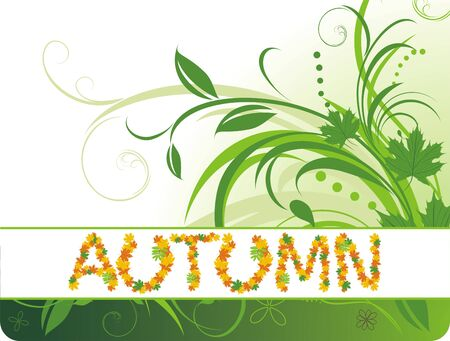 Abstract autumn background for banner Vector