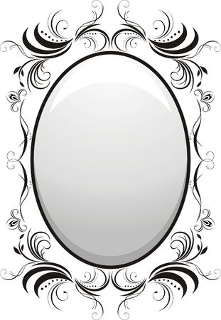 decorative item: Decorative floral frame