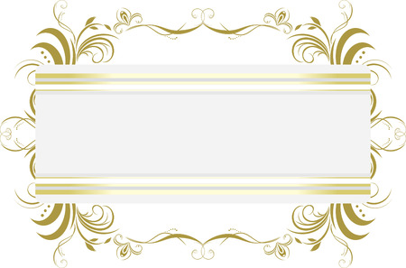 decorative item: Decorative floral frame. Title