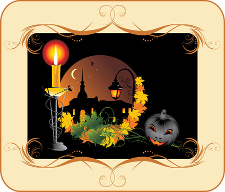 Halloween. Holiday composition for card Vector