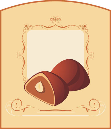Chocolate candies. Wrapping Vector