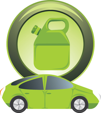 canister: Button with petrol canister Illustration