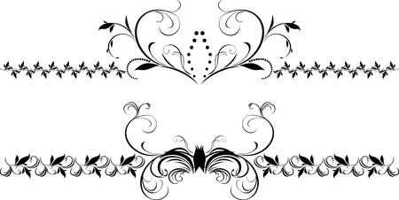 Two decorative floral borders for design Stock Vector - 8205153