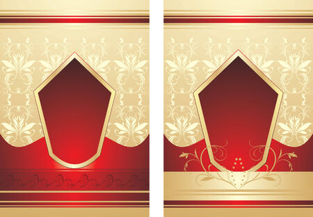 Decorative backgrounds for wrapping Vector