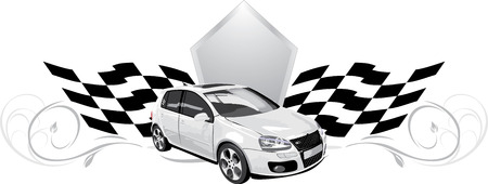 Sport car. Icon for design Vector