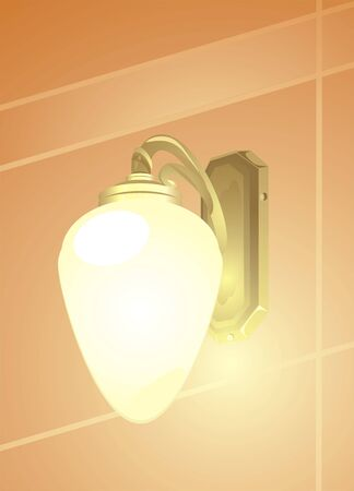 alight: Luminous retro lamp Illustration
