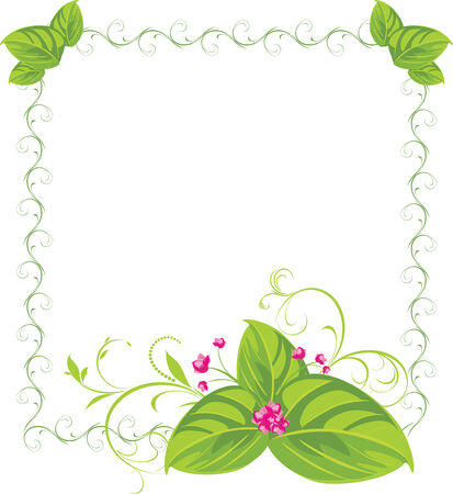 Spring bouquet in the decorative frame