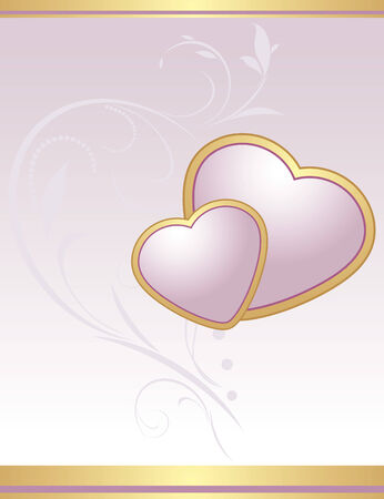 Lilac hearts. Background for Valentines card Stock Vector - 8640519
