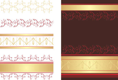 Decorative borders and abstract background Vector