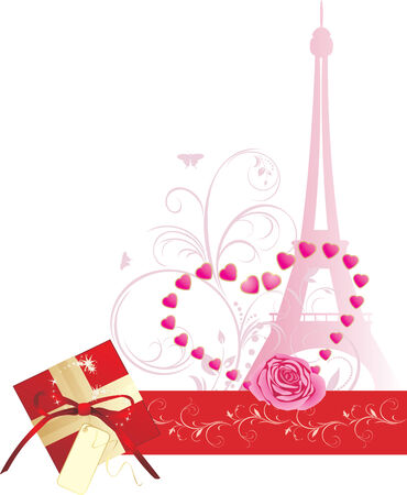 Holiday composition for Valentines day. Banner Vector