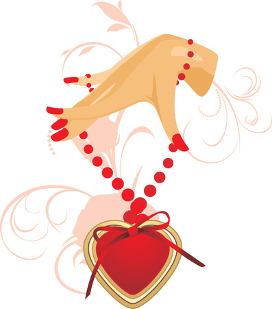 Female hand with heart Vector
