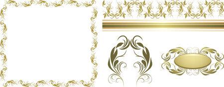 decorative item: Set of decorative retro elements for design
