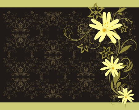 Spring bouquet. Decorative background Stock Vector - 9070253