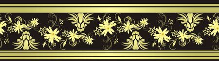 decorative item: Decorative floral border with chamomiles for design