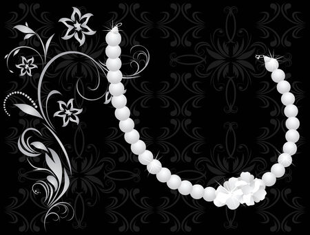 jewelery: Pearly necklace Illustration